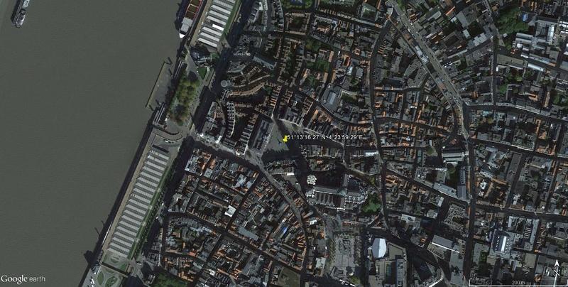 La terrible histoire de la fontaine Brado et des mains d'Anvers en Belgisue !! Statue11