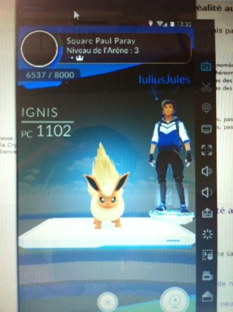 Pokemon Go, le jeu en réalité augmentée, arrive en France - Page 20 Ignisa10