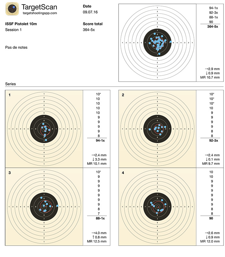 Blason âge Hammerli 480 Target11