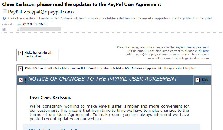 Paypal scam letter Paypal10