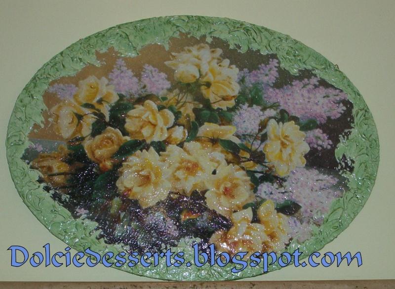 quadro floreale con cornice in pasta stucco 100_5110