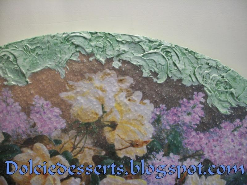 quadro floreale con cornice in pasta stucco 100_5111