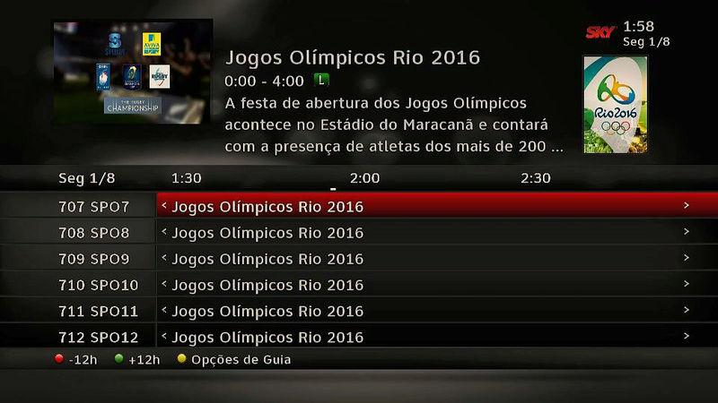 Os canais SporTV, especiais para a Olimpíada, já estão no ar! 210