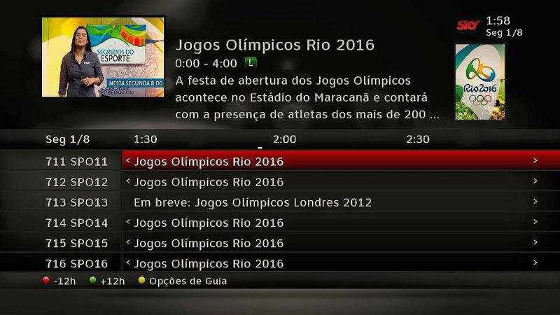 Os canais SporTV, especiais para a Olimpíada, já estão no ar! 310
