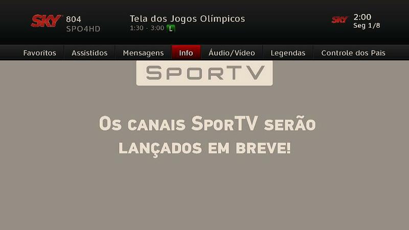 Os canais SporTV, especiais para a Olimpíada, já estão no ar! 710