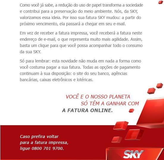 Fatura impressa da SKY, só via solicitação! Screen19