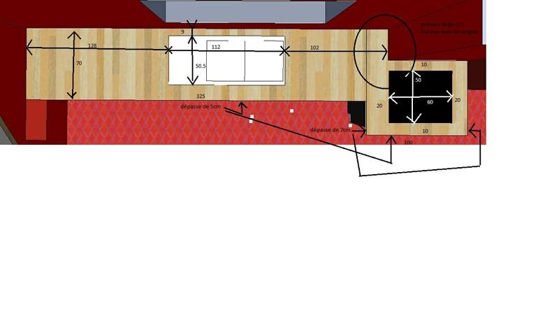 habillage d'une cuisine en frene et platane Plan_d10