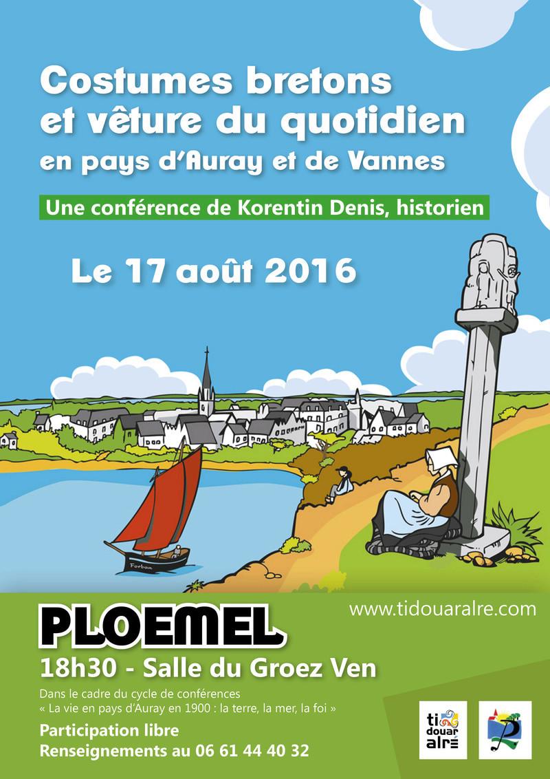 Ploemel 17 août : conférence sur le costume d'Auray Costum10
