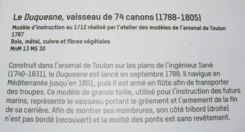 Musée de la Marine de Toulon Maquettes Le_duq16