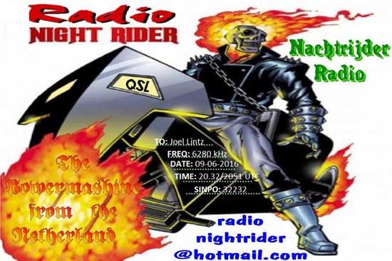 eQSL de Radio Night Rider Nightr10