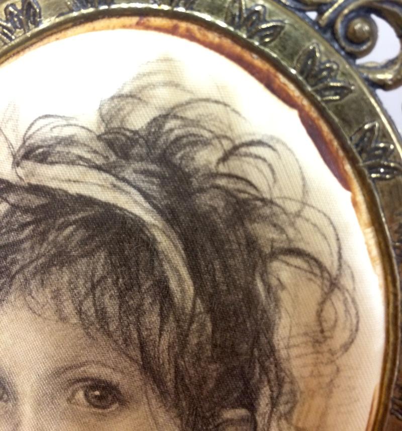 Italian portrait on silk? Image324
