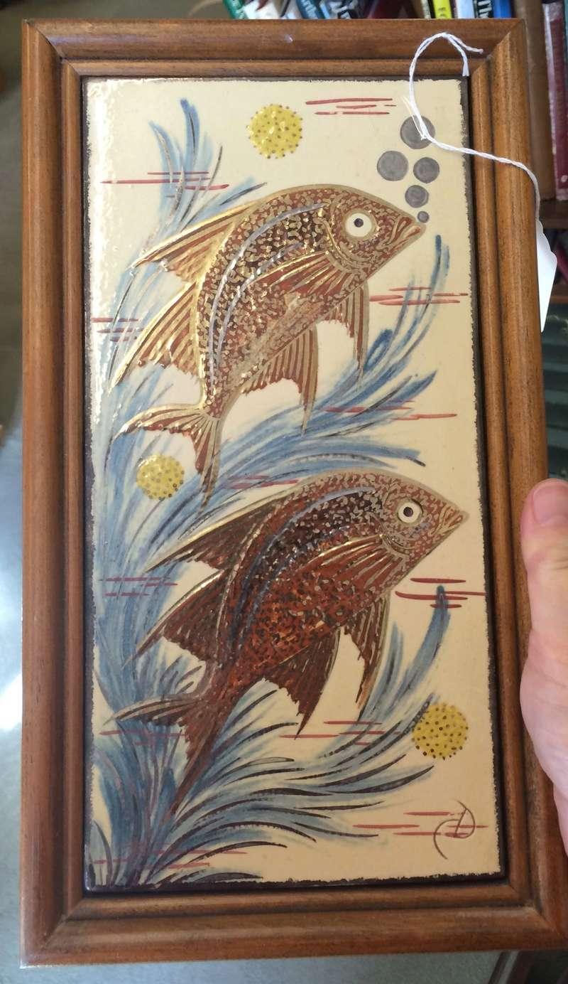 Fish tiles, framed - By Diaz Costa, La Bisbal-Girona, Spain  Image335