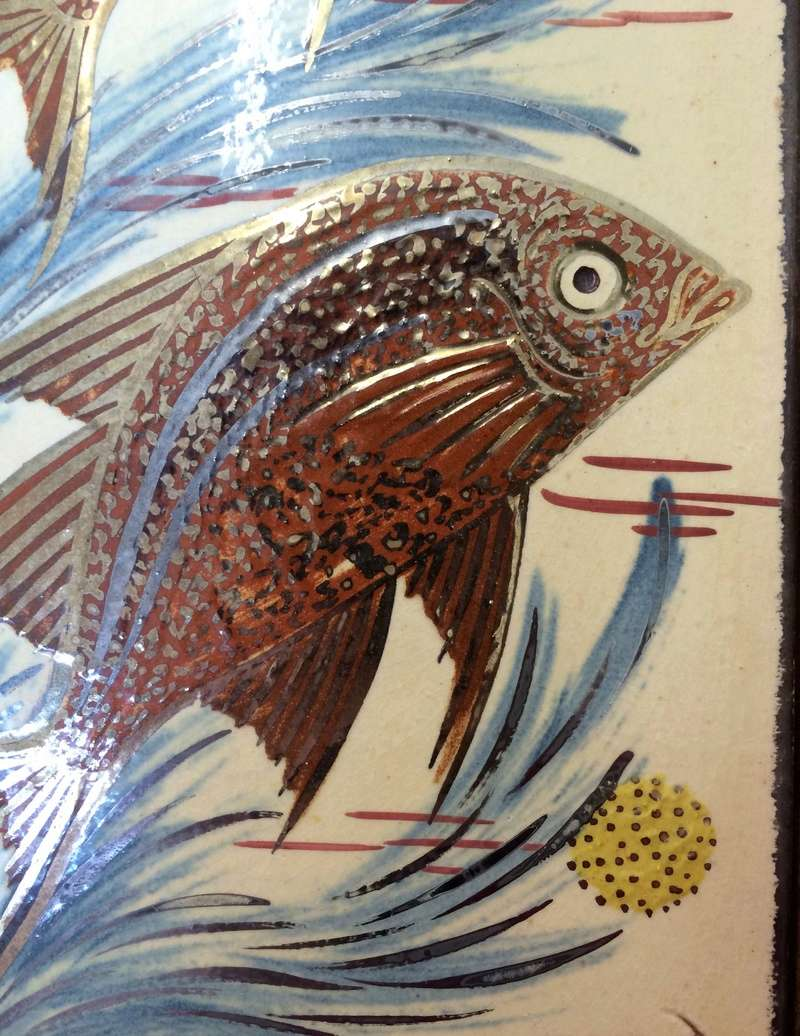 Fish tiles, framed - By Diaz Costa, La Bisbal-Girona, Spain  Image337