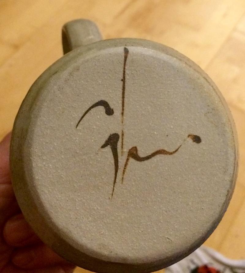 Signed jug - Robert Gordon, Pack Track Pottery, Australia  Image445