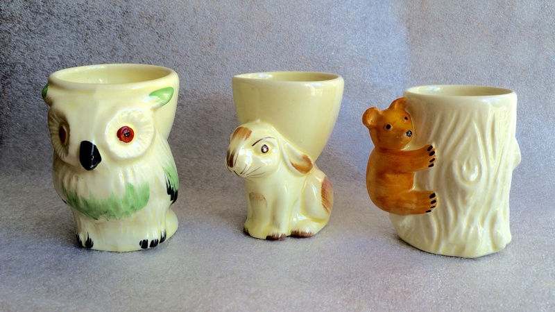 Animal egg cups Made in England Image452