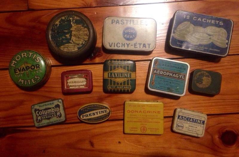 petites boites en ferrailles vintage ... 40/50 ?  13493310