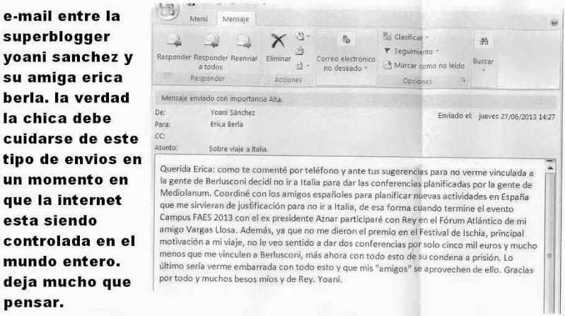 Gordiano Lupi. Cuba, Yoani Sánchez e la dissidenza Y-emai11