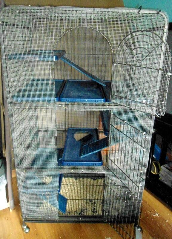 A VENDRE : Cage perfect (furets et chinchillas) regrillagée Dsc06512