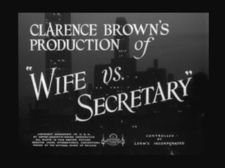 Wife vs Secretary  ( Sa Femme et sa dactylo) de Clarence Brown (1936) Wife_v11