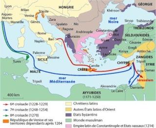 1248-1254 : LA SEPTIEME CROISADE Routes10