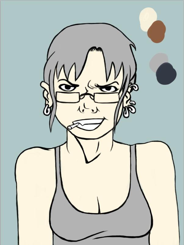 """Self portrait (mais en bien arrangé hein - -"""") Captur12"""
