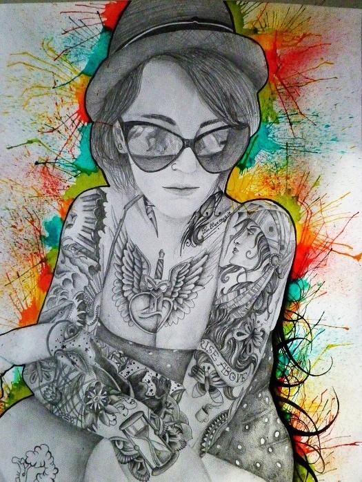 Femme aux Tatouages par Bullerougie Fcsf12