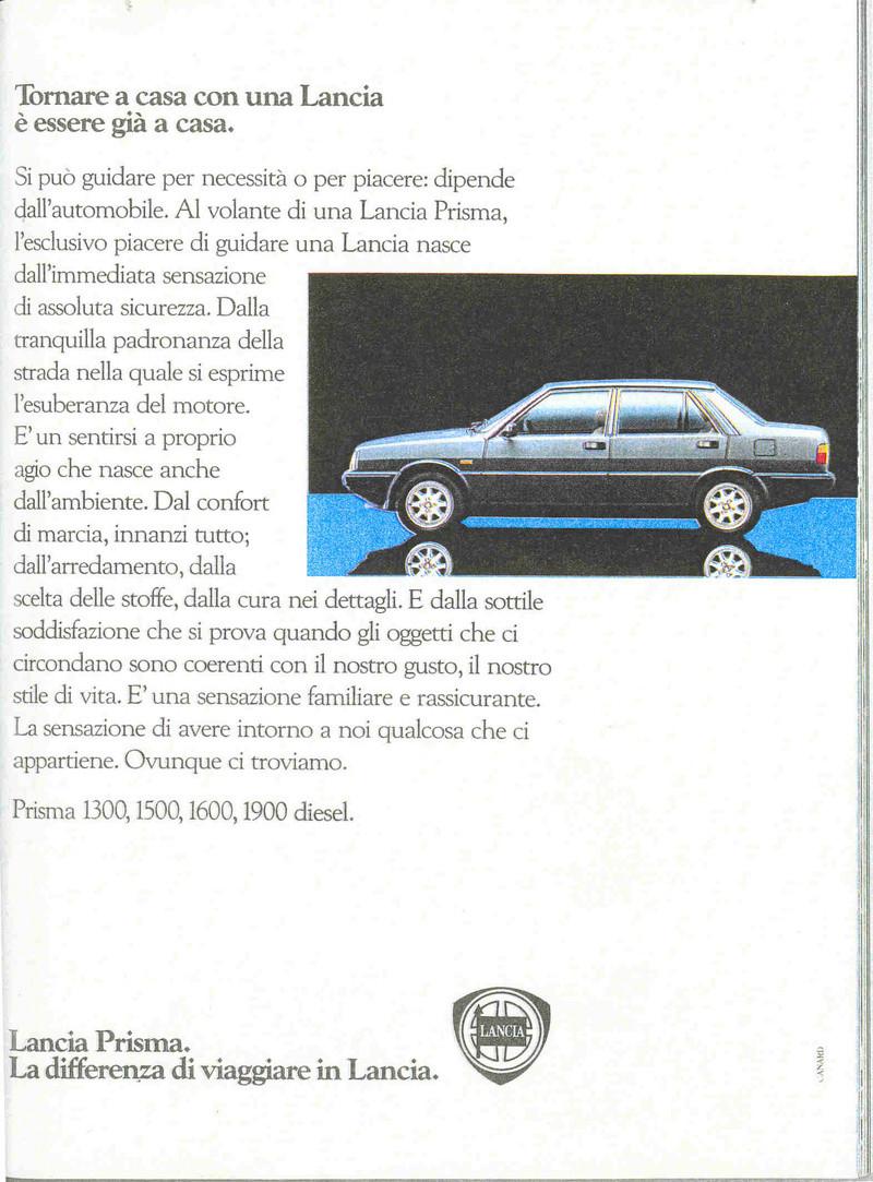 LANCIA SPA differenze pre e post acquisizione gruppo FIAT Lancia10