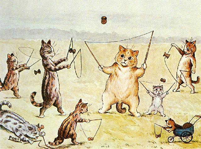 Louis Wain...et ses célèbres chats ! 73240210