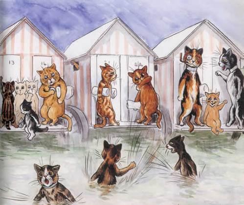 Louis Wain...et ses célèbres chats ! Beachw10