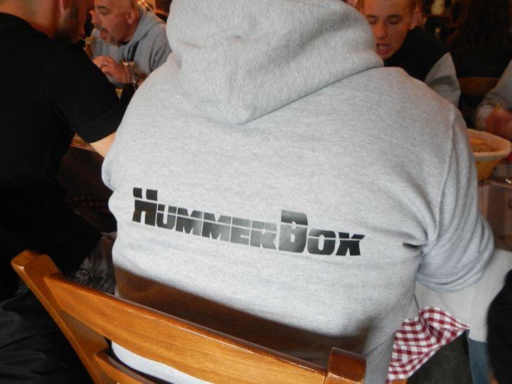 """Sweat-Shirt à capuche Coton Noir ou Gris Hummerbox avec marquage """"Club Hummerbox"""" devant et """"Hummerbox"""" derrière en taille S , XL et XXL disponible 13416810"""