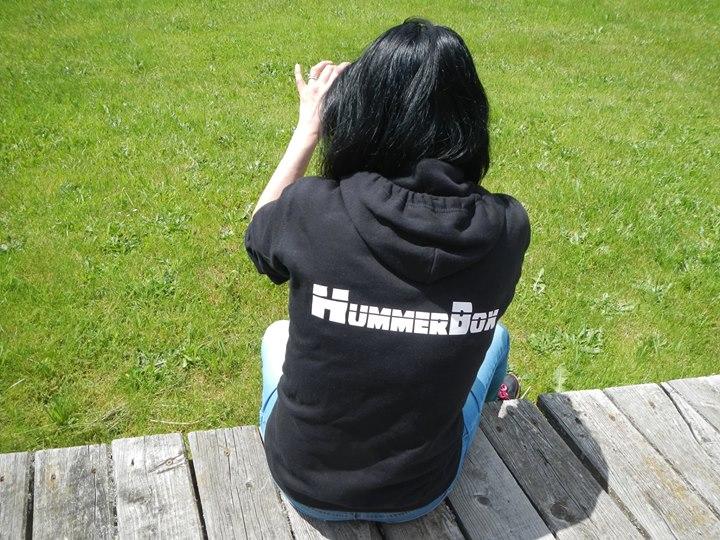 """Sweat-Shirt à capuche Coton Noir ou Gris Hummerbox avec marquage """"Club Hummerbox"""" devant et """"Hummerbox"""" derrière en taille S , XL et XXL disponible 13416910"""