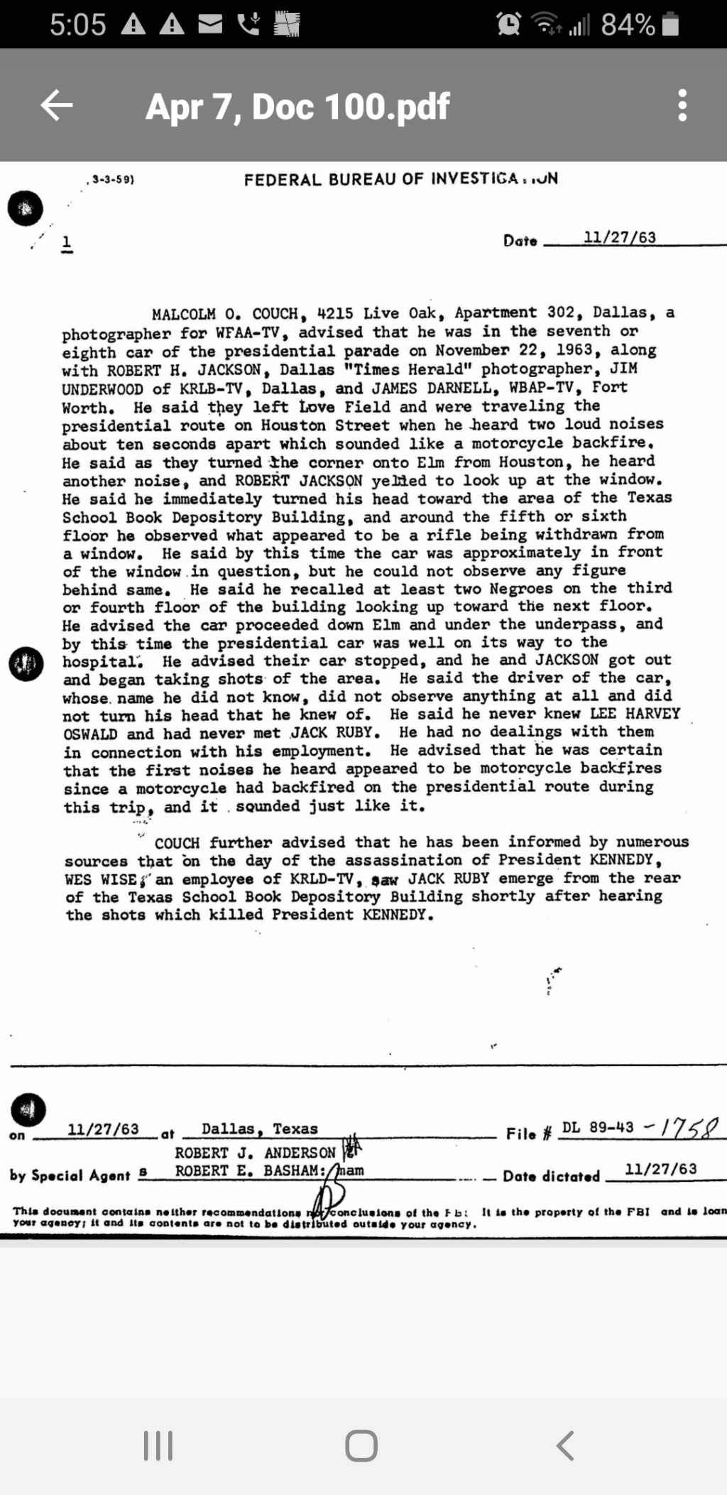 Floor - No Shots Fired From The TSBD - Page 6 Scree257