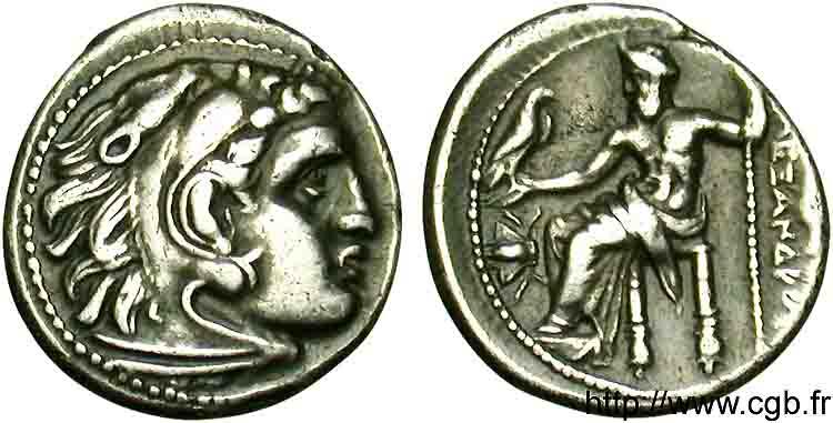 """petite grecque à ID ! ... Drachme """"alexandrine"""" ionienne pour Magnésie du Méandre V11_0010"""