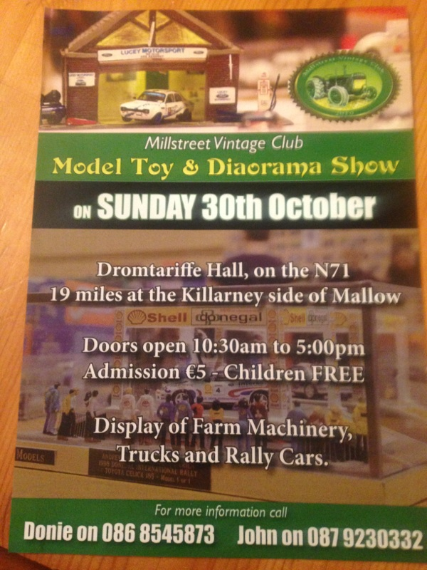 2016 Millstreet Vintage Club Model Toy an Diorama Show Oct 30th Millsr10