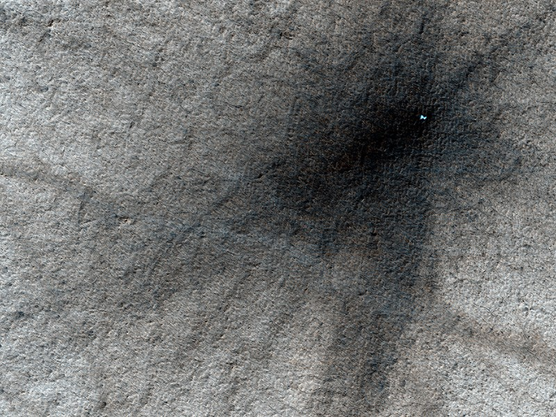 """An """"Icy"""" Crater on Mars Esp_0310"""