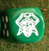 Des dés 6 avec le logo du club Goblin10