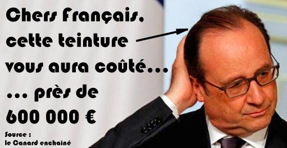 Un coiffeur est affecté à la chevelure présidentielle depuis mai 2012 pour 9.895 euros de salaire brut mensuel selon Le Canard enchaîné Une-te10