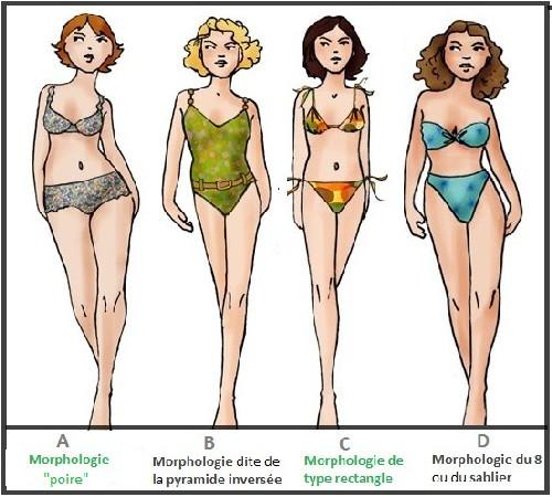 Les différents types de morphologie (femmes) 76190710
