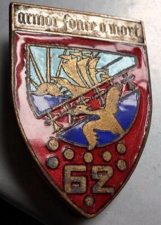 Insigne du 62° RI 1940 062_ri11