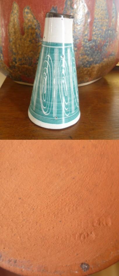 Small Earthenware Cone Creamer Spiral Glaze Cone10