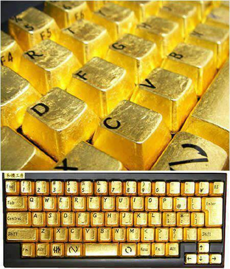 Amazing Golden Keyboard. 30917110