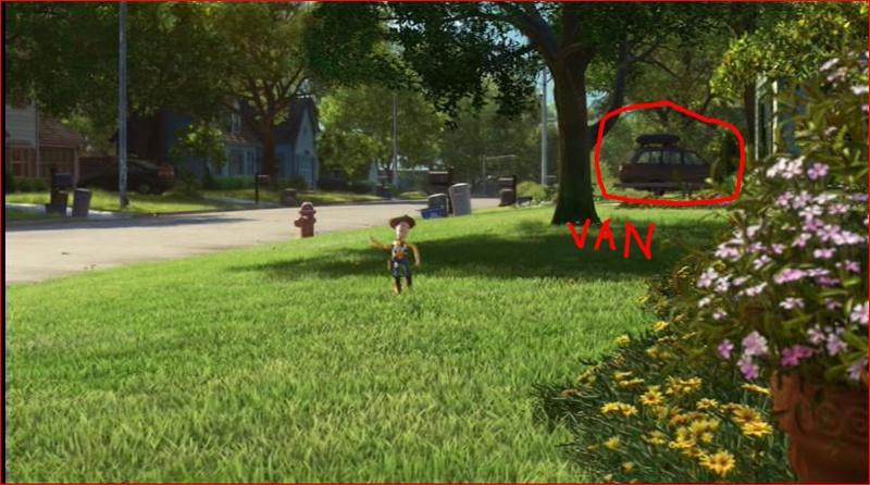 """Les clins d'oeil dans """"Toy Story 3"""". Pp10"""