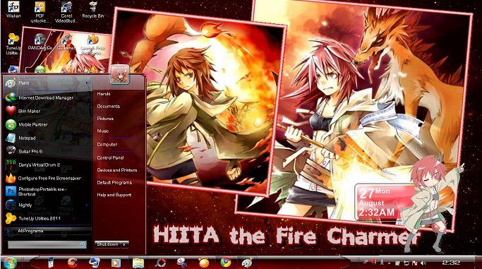 [Hiita Stuff ] RainMeter(calendar&clock) , WMP skin , ScreenSaver(Fire in desktop with Hiita Voice)  Deskra11