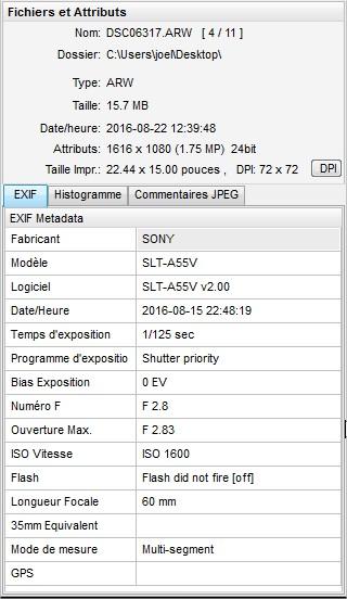 2016: le 15/08 à 23h48 - Lumière étrange dans le ciel  -  Ovnis à Erdeven - Morbihan (dép.56) Exif111