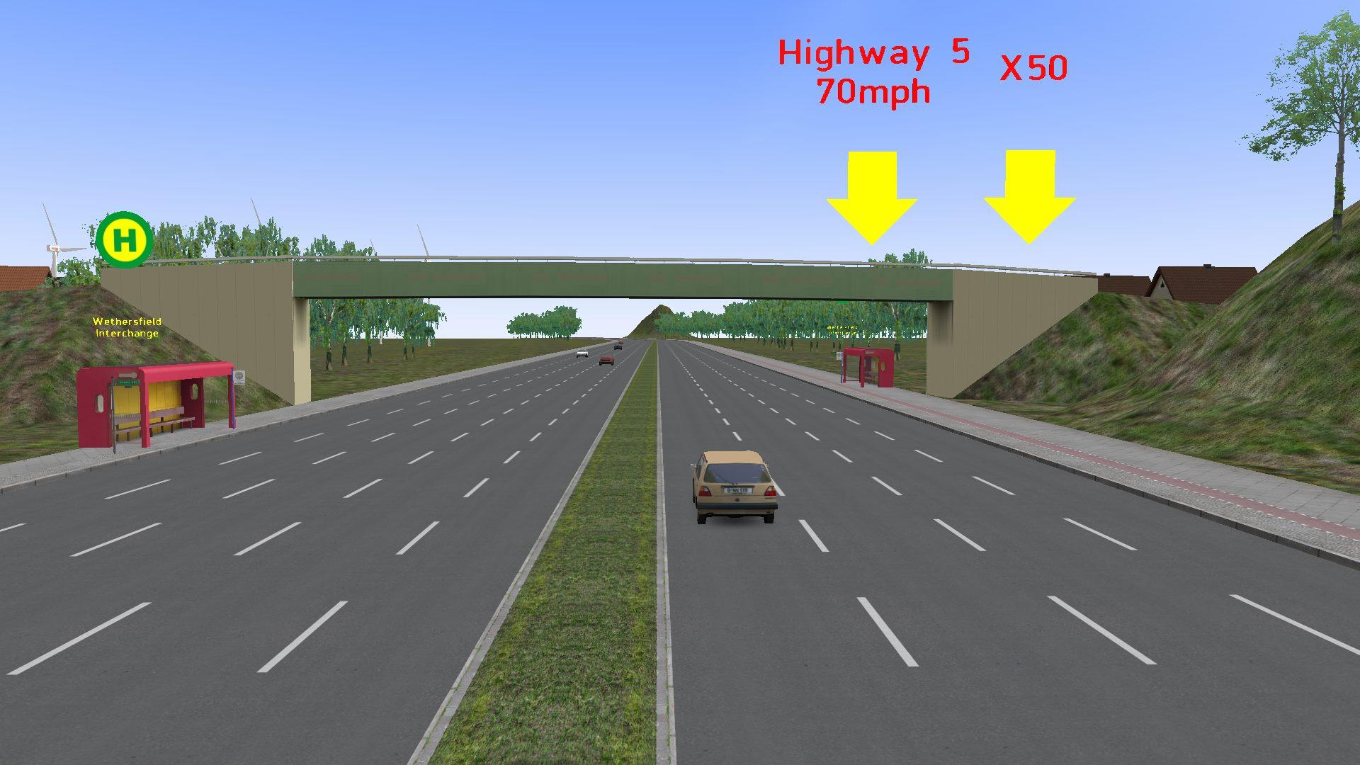 Moottoritie kartta [Highway] Omsi10