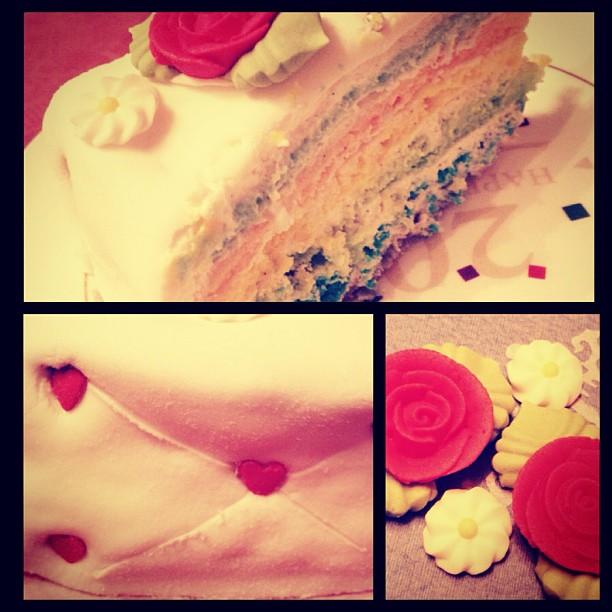 gâteau d'anniversaire (fait 100% par moi) 57608011