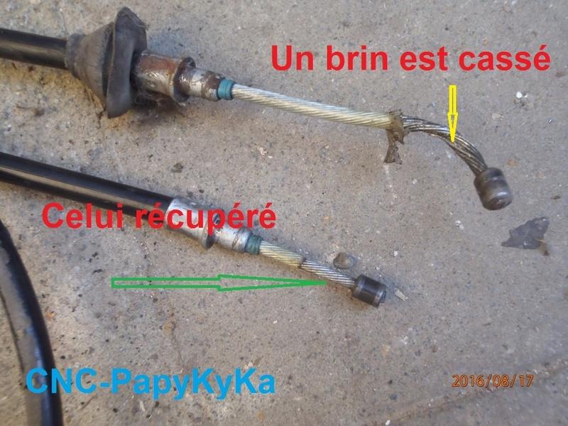 Remplacement câble primaire du frein stationnement S2. P8170012