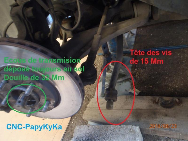 Train avant, démontage et révision, Frein, roulement, rotule, transmission.... P8230013