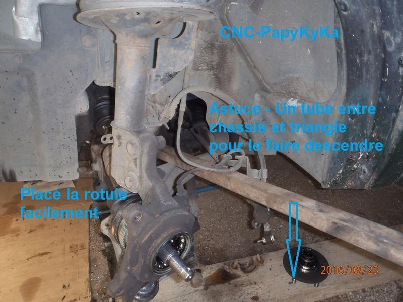 Train avant, démontage et révision, Frein, roulement, rotule, transmission.... P8230067