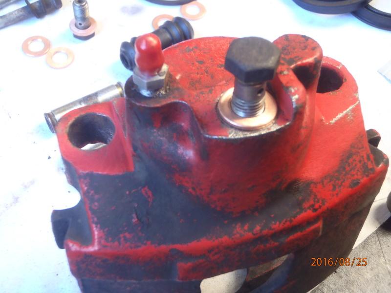 Train avant, démontage et révision, Frein, roulement, rotule, transmission.... P8250012